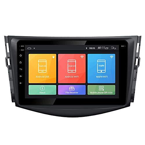 JIBO por RAV4 2007-2012 Android 10 GPS Navegación Cabeza Unidad IPS 2.5D Toque Pantalla Coche Estéreo Nav Sat Multimedia Jugador SWC WiFi Teléfono controlar Vídeo Receptor