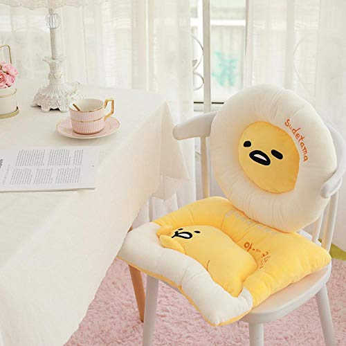 AGOOLZX Creative Cartoon Egg Square Round Cute Gudetama Lazy Egg Plush Sofa Seat Car Seat Stuffed Egg King Egg Yolk Brother Toy Boy Doll Girl Soft Pillow