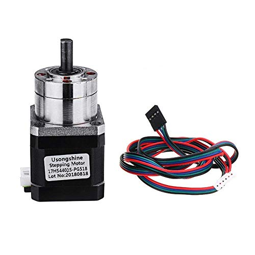 3D Printer Parts, 4-lead Extruder Gear Ratio 5.18:1 Planetary Gearbox Stepper Motor for 3D Printer Part