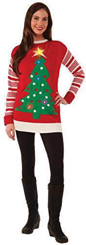 Forum Novelties Women's Light-Up Ugly Christmas Jumper Sweater