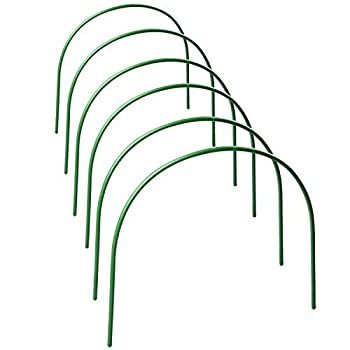 Takefuns 6Pack Plant Cover Support,Tall Garden Fabric Support Frame,Greenhouse Hoops,Plant Grow Tunnel,Garden Hoop for Garden Stakes -4ft Long Steel