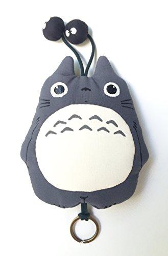 Totoro Key Cover Studio Ghibli Fabric Keychain Gray 3 by Cute Art