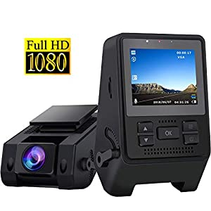 Dash Camera for Cars 1080P Full HD Dash Cam Super Night Vision, 170° Wide Angle, Motion Detection, Parking Monitoring, G-Sensor, Loop Recording