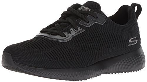 Skechers BOBS SQUAD - TOUGH TALK-32504 Sneaker Damen, Schwarz (Black Engineered Knit Trim Bbk), 39 EU