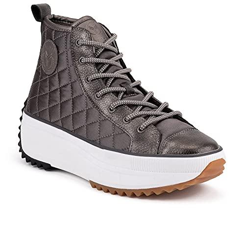 Zapatilla Sneaker Yumas Madelein Plomo Fabricado en Nylon Transpirable Plantilla Textil para Mujer