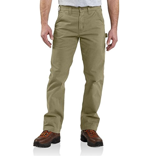 Carhartt Men's Relaxed Fit Washed Twill Dungaree Pant, Dark Khaki, 36W X 30L