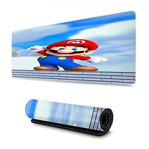 Super Mario - Alfombrilla de ratón para videojuegos, teclado extendido, impermeable, antideslizante, personalizable, para oficina, hogar, PC, mesa de escritorio