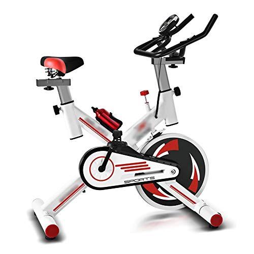 Yangxuelian Bicicleta de Spinning Girar la Bici Resistencia Infinity transmisión del cinturón de Asiento Ajustable for el Entrenamiento Cardio Negro Blanco Entrenamiento en Interiores Fitnes
