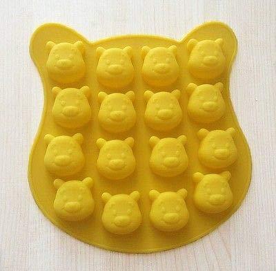 FidgetGear Moule à gâteau en Silicone 16 Winnie l'ourson pour Bonbons Chocolat