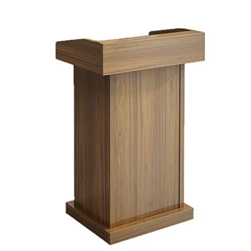 NBVCX Lebensdekoration Rednerpult Podium Tisch Hosting Rezeption Präsentation Podium Holz Rednerpult Stand Sprechen Kirche Podien (Farbe: C Größe