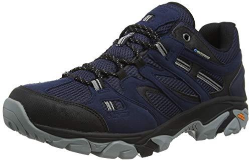 Hi-Tec RAVUS Vent Lite Low Waterproof, Zapatillas para Caminar para Hombre, Monumento Negro Medianoche, 39 2/3 EU