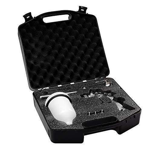 BenBow Lackierpistole PK60 HVLP (1.4mm + 1.8mm) mit Zubehör und Koffer Spritzpistole