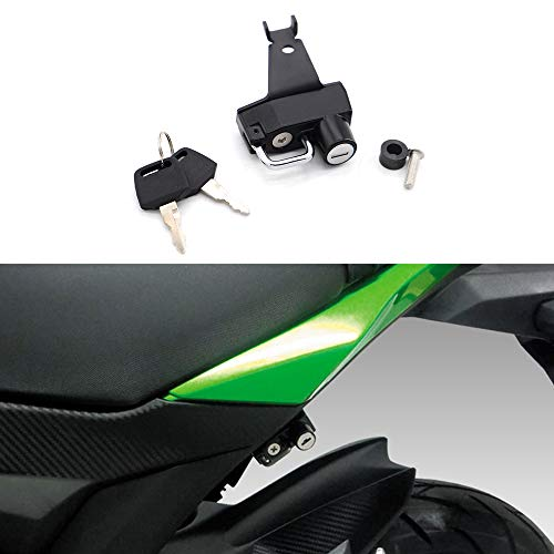 Motorcycle Helmet Lock with Keys Anti-Theft For Kawasaki Z125/Pro 2016 and...