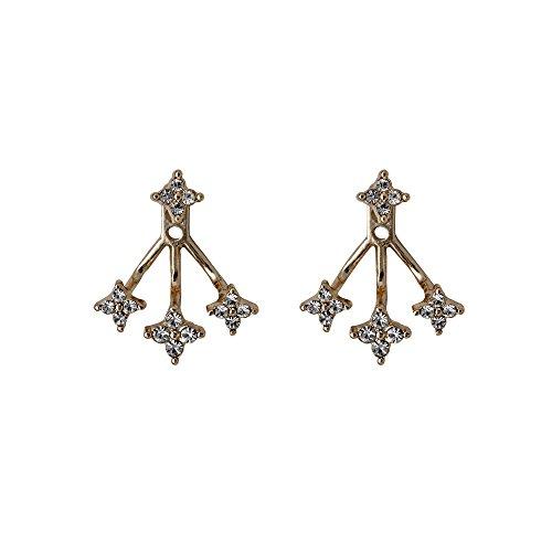 Pilgrim Damen Doppelohrringe mit Strasssternen - rosevergoldet