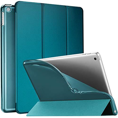 ProCase iPad 10.2 2020/2019 Custodia TPU Morbida, iPad 8a/7a Generazione Cover, iPad 8/7 Cover, Smart Cover con Auto Svegliati/Sonno, Ultra Sottile Copertura Traslucida Smerigliata -Teal