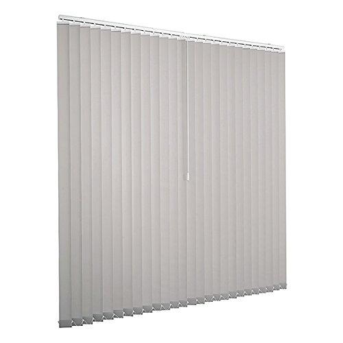Lamellenvorhang raumverdunkelnd 100% Komplettset Vertikaljalousie 89mm inklusive Montagematerial (Grau, 300 x 250 cm)