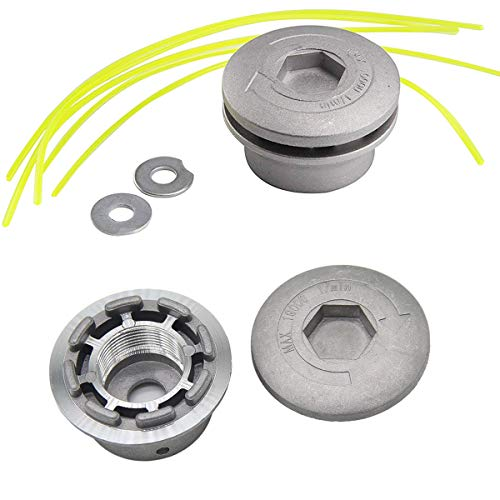 Osuter 2PCS Cabezal Desbrozadora Universal, Cabezal Hilo Aluminio Cortacésped Duradero para Desbrozadora Repuestos