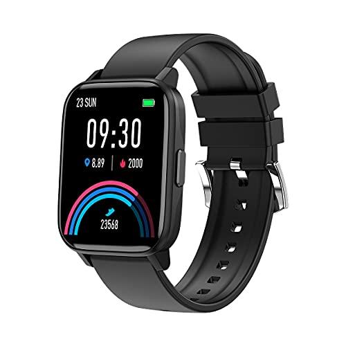 Relojes inteligentes para hombres y mujeres, pantalla táctil completa de 1,69 ', reloj inteligente para teléfonos Android y teléfonos iOS, podómetro a prueba de agua IP68, reloj Fitness Tracker con