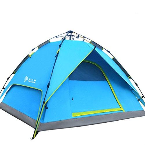 Hillman - Multifunktions-Zelt, doppelte wasserdichte Beschichtung, sehr leicht, ideal zum Wandern, Zelt für 3–4Personen, blau