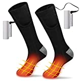 Lzellah Heated Socks for Men Women, Upgraded Heating Socks Rechargeable Battery Powered with 4400mAh 3 Levels Heating Settings,for Winter Indoor Outdoor Sport Camping, Cycling, Motorcycling, Riding
