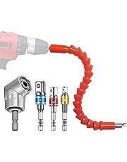 Elektrische Boor Adapters Set - 5 stks Extension Hex Shaft Schroef Power Boor Aansluiting Tip 105 Graden Haakse Driver Set voor Computer Chassis, Elektrische Kasten, Meubels