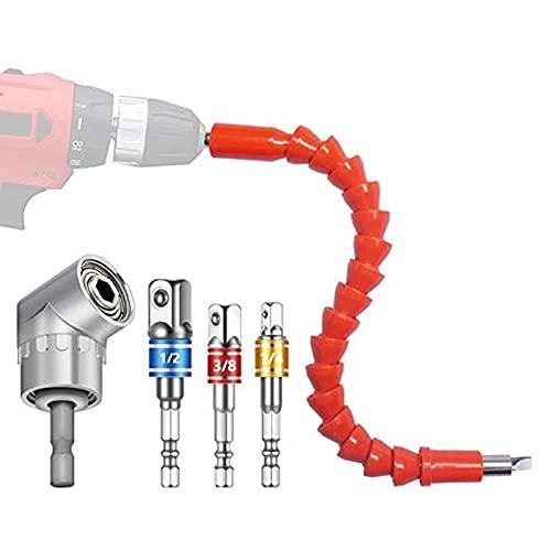 Juego de adaptadores para taladro eléctrico - 5 piezas de extensión, eje...