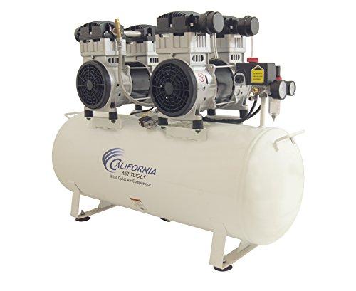 California Air Tools 20040CAD 4 hp 20 gallon Ultra Quiet & Oil-Free Steel Tank Air Compressor Auto Drain, White