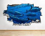 Peces de acuario océano vinilo adhesivo para habitación de niños mural calcomanía Decal Print 60x90cm