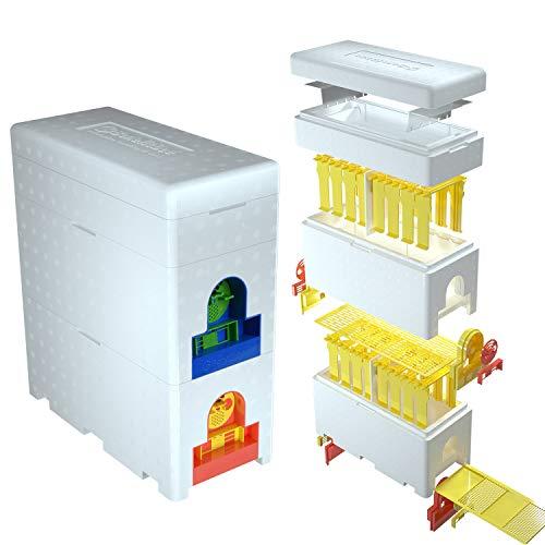 benefitbee Queen Bee Hive Foam Material Double Box Multi-Functional Queen Rearing Beehive Beekeeping...