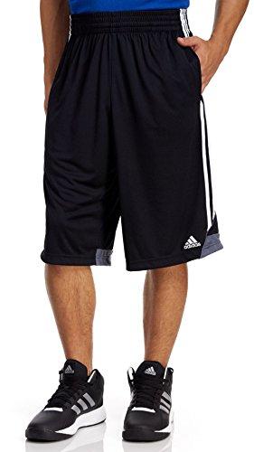 adidas Men's Basketball 3G Speed 2.0 Shorts, Black/White, Large