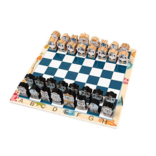 LTCTL ajedrez Juego de ajedrez para la educación para niños, Juego de Mesa de 2 Play con Piezas de ajedrez de plástico, Tablero de ajedrez Lindo y cordón de 65 cm, 11.8' Juego de ajedrez