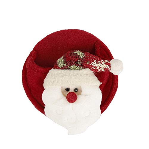 WWDKF Decoraciones de Navidad montañas Rusas de Vino Tinto Puede ser Utilizado para Copas de Vino con los Disfraces (10 Piezas)