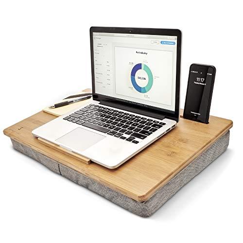 Organizador de espacio de trabajo de bambú de escritorio de regazo