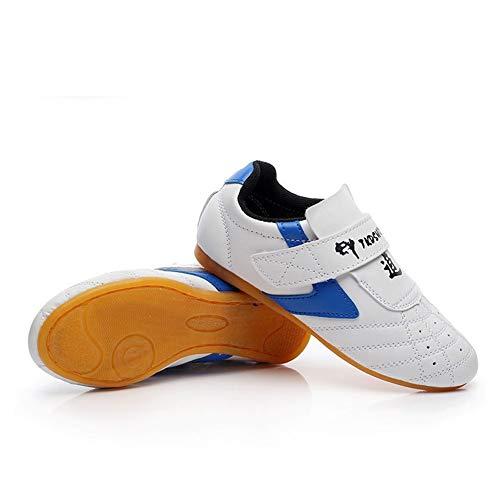 SEHUNN Taekwondo Zapatos Blanco Magia Pegatina Transpirable Zapato Deportivo para Kung Fu Karate Artes Marciales Lucha Taichi Hombres Zapatillas Transpirableswhite-40