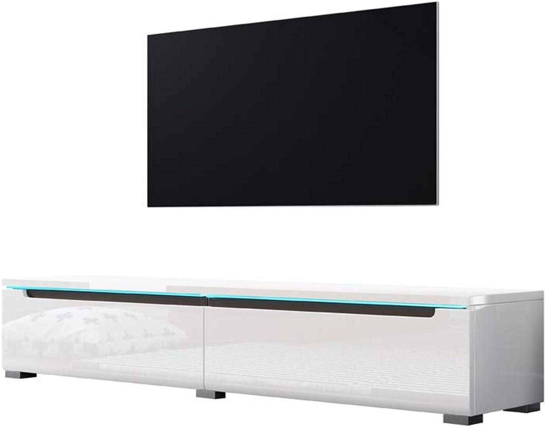 Swift – Fernsehschrank Tv-Lowboard In Wei Hochglanz Mit Led Hngend Oder Stehend 140 cm
