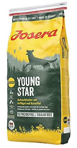 JOSERA YoungStar (1 x 15 kg) | getreidefreies Welpenfutter für mittlere und große Rassen | Super Premium Trockenfutter für wachsende Hunde | 1er Pack