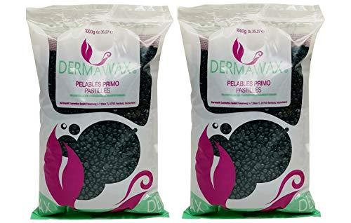 2 kg de perles de cire Azulen Premium sans bandes de cire pour l'épilation, cire brésilienne pour le corps entier, jambes, visage, bras, zone du bikini et intime