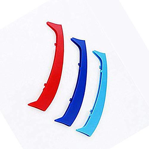 Für 3 Series E46 318i 320i 325i 330i 335i 1998-2001 (10 Kühlergrill) Front Kühlergrille Rennwagen M Farbe Kühlergrillstreifen Einsatz Verkleidung Kompatible Dekoration 3Stück