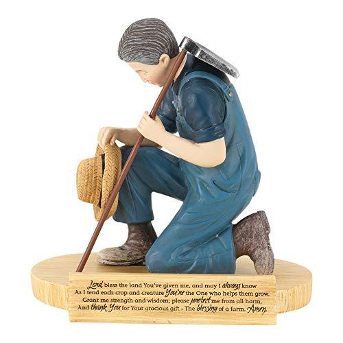 Dicksons Farmers Prayer 4.5 Inch Resin Stone Figurine