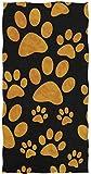 rodde Toalla de Mano Tamaño 30x15 Pulgadas Animal Dog Paw Print Altamente Absorbente para el hogar Cocina Baño Gimnasio Swim SPA