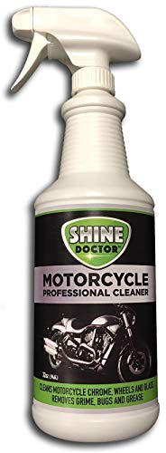 Shine Doctor Motorcycle Cleaner 32 oz. with UV Protection! Cleans Chrome, Wheels and Glass and...