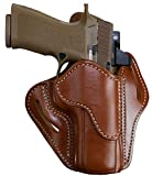 1791 GUNLEATHER Sig P320 Optic Ready Holster - OWB CCW G43 Holster - Right Handed Leather Gun Holster for Belts - Sig SP2022, P227, H&K VP40, P30L (BH2.4-OR)… (Classic Brown)