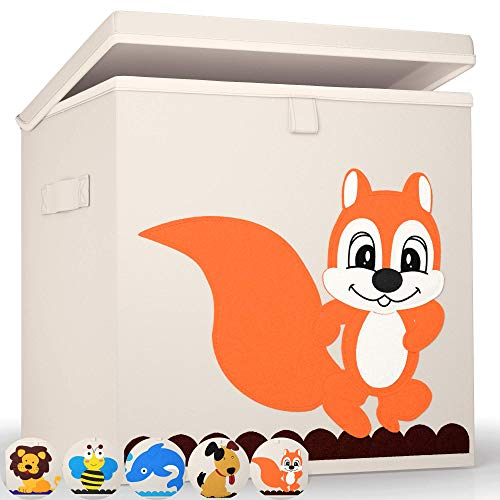 Premium Aufbewahrungsboxen von BEARTOP   passgenau für Regale wie Kallax, usw.   stabiler Deckel & verstärkte Wände zum Stapeln   verschiedene Designs   ZUFRIEDENHEITSGARANTIE (3 Jahre)*