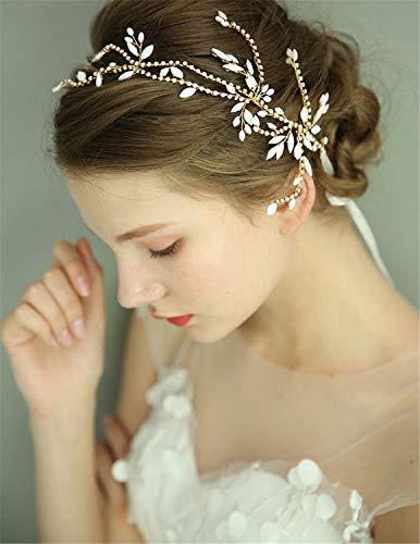 Tiara novia temperamento Rhinestone accesorios de pelo novia perla novia banda de...