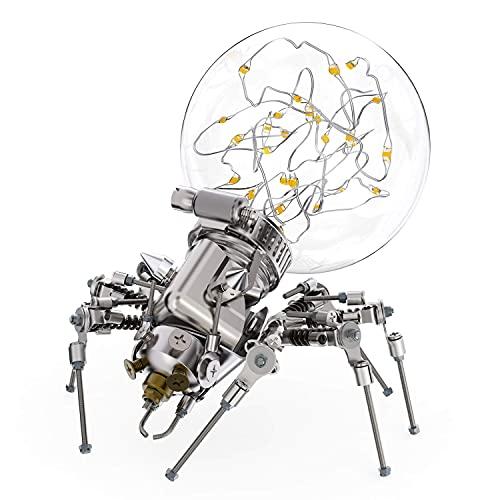 WOWLEO Robot Lamp, Creative Robot Table Lamp DIY Spider Robot Light Building Block Educational Kit...