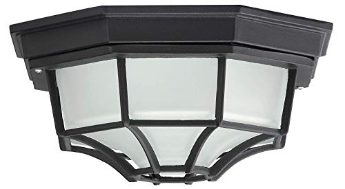 Milano Außendeckenleuchte leuchtenladen klassisch Metall/Glas schwarz Außenleuchte Deckenlampe Außenlampe E27 100W