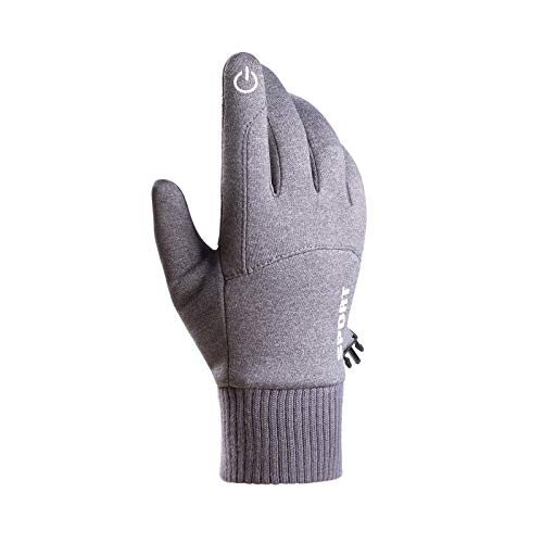 Oppal Touchscreen Winter Handschuhe, Verdickte Winterhandschuhe Laufhandschuhe Outdoor Fahrradhandschuhe Sporthandschuhe Vollfinger Handschuhe für Damen und Herren (Grau)