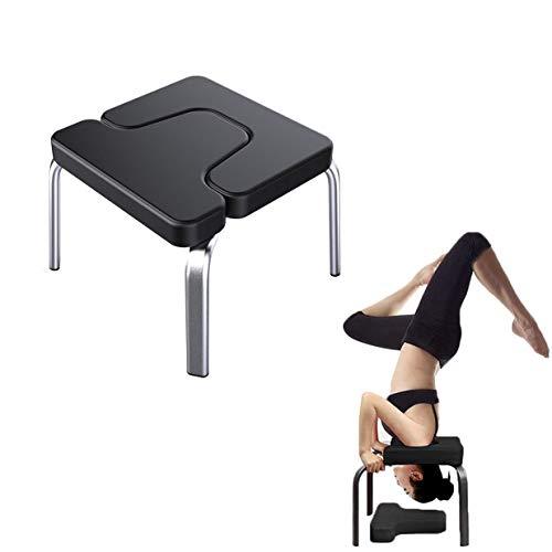 ZSH Yoga Inverted Chair, idealer Stuhl zum Üben von Kopfstand, Schulterstand, Kopfstand und verschiedenen Yoga-Stellungen mit weicher Matte für Heimgymnastikübungen