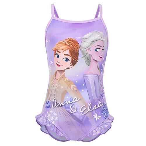 Frozen Movie Disney – Disfraz de una pieza para la playa y la piscina, producto original con licencia oficial 1830 Purple 4 años