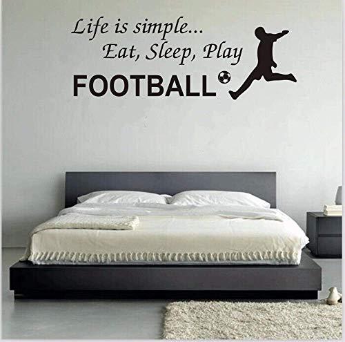 Kann angepasst werden Ebay Bursts von Fußball Wandaufkleber Wohnzimmer Schlafzimmer Sofa Hintergrund Wandbild Grün PVC dekorative Abziehbilder 28 * 76Cm